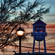 Frisco Water Tower Sunrise