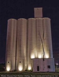 Lighted Grain Elevators