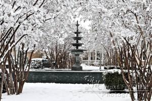 Fountain in Snow