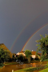 Double Rainbow over Frisco, Texas.  Copyright 2010 Warren Paul Harris