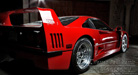 Ferrari F 40 at Night