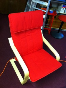 (2) IKEA POANG Red Chair - $75 Ea