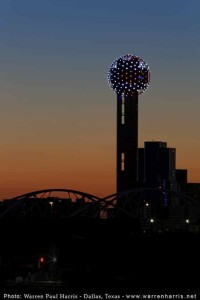 Reunion Tower Memorial Day Sunset