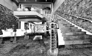 Lobby and Stairs BW 1