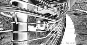 Stairs-Lobby BW 1