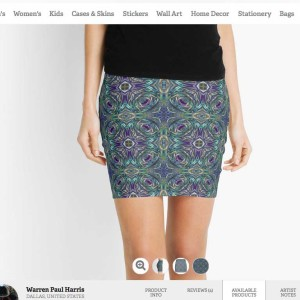 Vortex StainGlass2 Pencil Skirt