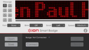 ION Badge App Screenshot