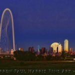 Dallas Skyline Sunset SuperMoon Composite II