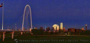 Dallas Skyline Sunset SuperMoon Composite II