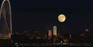 Dallas Skyline SuperMoon Composite 11-13-2016