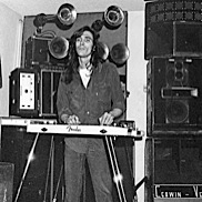 John Cipollina playing pedal steel guitar